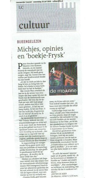 Jantien de Boer over De Moanne nûmer 4, 2018
